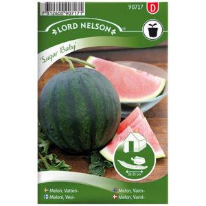 Frö fröer Melon, Vatten-, Sugar Baby