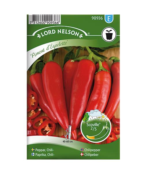 Frö fröer Chilipeppar, Piment d'Espelette