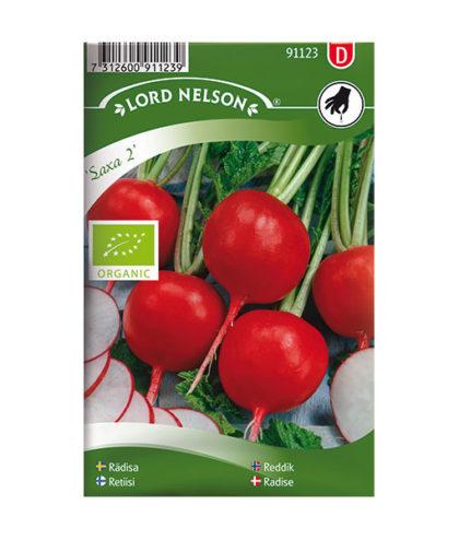 Frö, fröer Rädisa, Saxa 2, rund, Organic