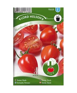Frö fröer Tomat, Busk- 'Heartbreaker' F1