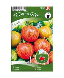Frö fröer Tomat, Frilands- 'Tigerella'