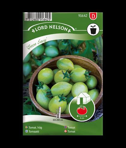 Frö fröer Tomat, hög 'Green Envy'